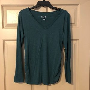 Isabel Maternity by Ingrid & Isabel Tops - Hunter Green Maternity long sleeve